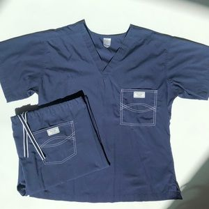 Blue Sky Scrubs Set Navy Blue Size Medium